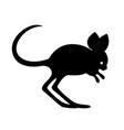 black jerboa silhouette vector image vector image