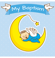 boy baptism vector image vector image