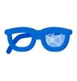 Broken glasses vector image