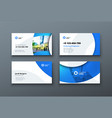 business card design business card template for vector image