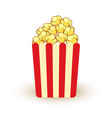 carton bowl full of popcorn icon vector image