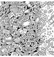 cartoon cute doodles cinema frame design vector image vector image