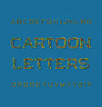 cartoon letters typeface artistic font isolated vector image