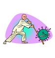 china victory in epidemic coronavirus covid19 vector image