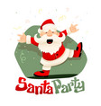 christmas santa claus dancing vector image