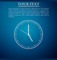 clock icon isolated on blue background time icon vector image vector image