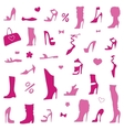collection womens shoes vector image
