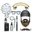 color hipster attributes vector image vector image