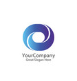 corporate business finance logo square loop vector image vector image