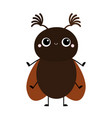 cute beetle bug insect animal cartoon kawaii vector image