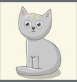 cute cat for kids print vector image vector image