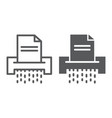 document shredder line and glyph icon file vector image