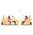 family psychoteraphy couple on reception at the vector image vector image