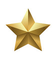 five pointed golden shiny star vector image vector image