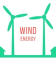 green energy with two wind motors vector image vector image