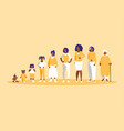 group of black family members characters vector image vector image