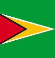 guyana flag icon in flat style national sign vector image vector image