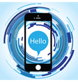 hello phone abstract vector image vector image