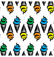 ice cream in waffle cup vector image vector image