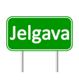 Jelgava road sign vector image vector image