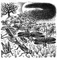 locust invasion vector image