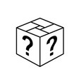loot box icon square cube outline box vector image vector image