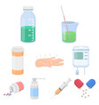 medicine and hospital set icons in cartoon style vector image vector image