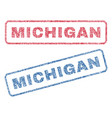 michigan textile stamps vector image vector image