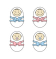 Newborns babies vector image