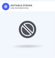 no waiting icon filled flat sign solid vector image vector image