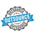 outsource stamp sign seal vector image vector image