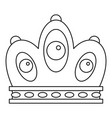 queen crown icon outline style vector image vector image