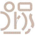 railroad element set vector image