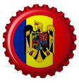 Romania bottle cap vector image vector image