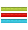 ruler school flat centimeter scale inch rule vector image