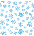 seamless pattern with blue snowflakes vector image