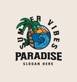 seaside resort vacation lineart lineart palm vector image