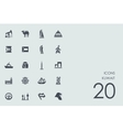 Set of Kuwait icons vector image vector image