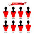 set various neck lines on woman mannequins vector image vector image