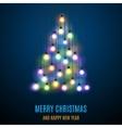 Shiny Christmas tree vector image vector image