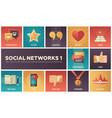 social networks - modern set of flat design vector image vector image