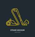steam vacuum cleaner flat line icon logo vector image