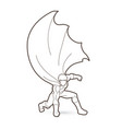 strong man superhero landing action graphic vector image