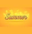 Sunny lettering of summer