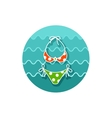 Swimsuit icon Summer Vacation vector image vector image