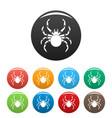 tarantum spider icons set color vector image