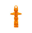 totem pole maya civilization symbol american vector image vector image