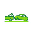 tow truck sign lemon scribble icon on vector image vector image
