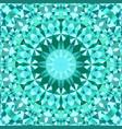 turquoise seamless kaleidoscope pattern background vector image vector image