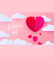 valentines day greeting card valentine paper vector image vector image